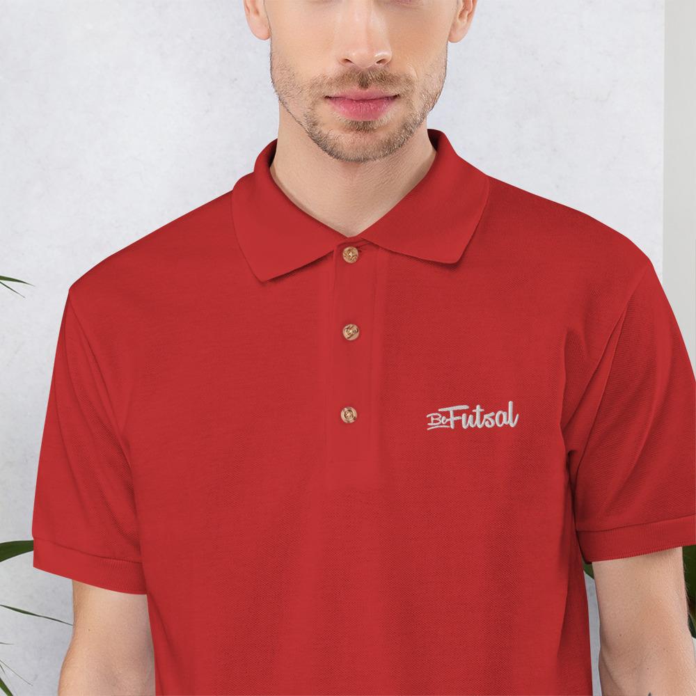 Polo Rojo Bordado BeFutsal